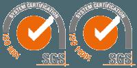 Certificados en ISO 9001 y 14001 por SGS